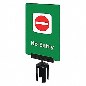 ACRYLIC SIGN,GREEN,NO ENTRY