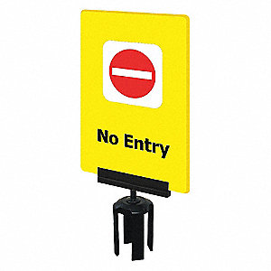 ACRYLIC SIGN,YELLOW,NO ENTRY