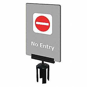 ACRYLIC SIGN,GRAY,NO ENTRY