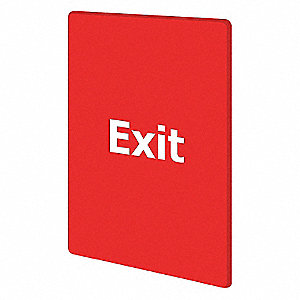 EXIT PLEASE DO NOT ENTER RED