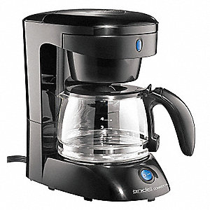 4 Cup Plastic/Glass Commercial Coffee Maker, Black/Clear