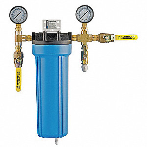 "3/8"" NPT Polypropylene Anti-Scale Filter System, 2 gpm, 90 psi"