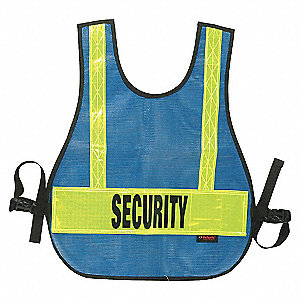 VEST SAFETY SECURITY REFLECT BLUE