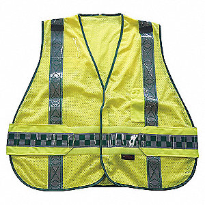 VEST PUB SAFETY REFLCT YEL M/XL