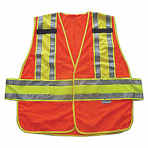 VEST HI-VIS CLASS 2 ORANGE XL/2XL