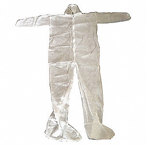 COVERALLS DISP HOOD/BOOT WT XL PK25