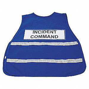VEST SAFETY INCIDENT POLY BLUE