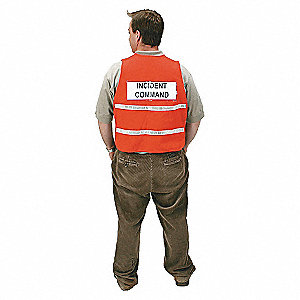 VEST SAFETY INCIDENT POLY RED