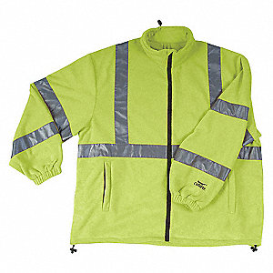 MANTEAU MOLLETON TYPE 3 LIME L