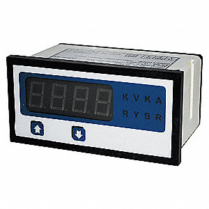 DIGITAL PANEL METER,AC VOLTAGE,0-60