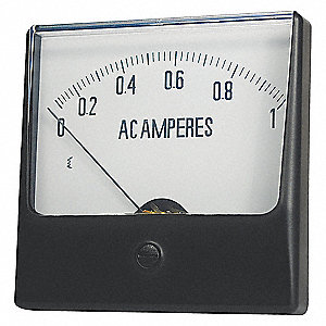 ANALOG PANEL METER,DC CURRENT,0-25