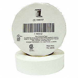 ELECTRICAL TAPE,3/4 X 66 FT.,WHITE,