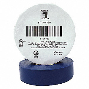 ELECTRICAL TAPE,3/4 X 60 FT.,BLUE,P