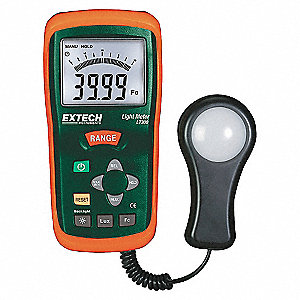 LIGHT METER,0 TO 20K FC,0 TO 200K L