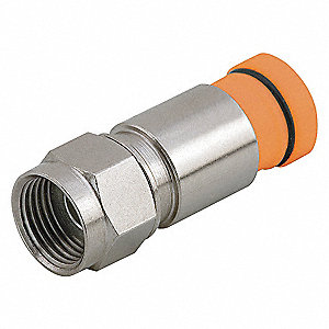 COAXIAL CONNECTOR,RG59,F TYPE,PK 50