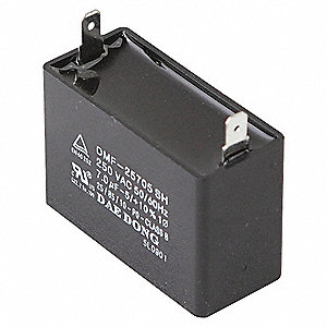 RUN CAPACITOR,9 MFD,250 VOLTS,SQUAR
