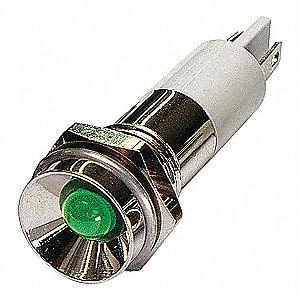 PROTRUDE INDICATOR LIGHT,GREEN,110V