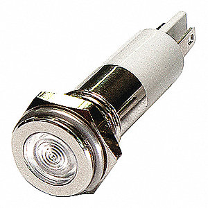 FLAT INDICATOR LIGHT,WHITE,24VDC
