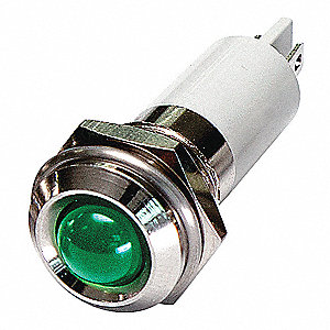 ROUND INDICATOR LIGHT,GREEN,24VDC