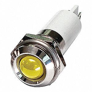ROUND INDICATOR LIGHT,YELLOW,110VAC
