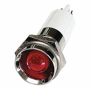 PROTRUDE INDICATOR LIGHT,RED,12VDC