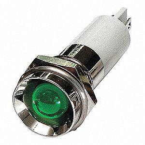 PROTRUDE INDICATOR LIGHT,GREEN,12VD