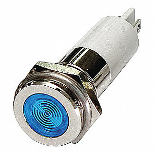 FLAT INDICATOR LIGHT,BLUE,12VDC