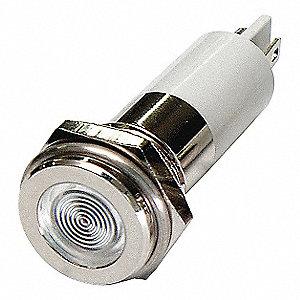 FLAT INDICATOR LIGHT,WHITE,12VDC
