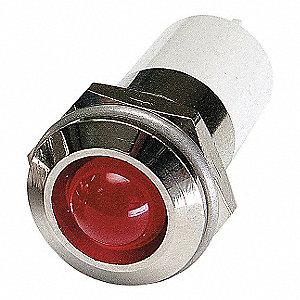 ROUND INDICATOR LIGHT,RED,3VDC
