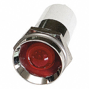 PROTRUDE INDICATOR LIGHT,RED,110VAC