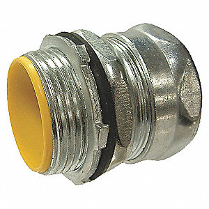 EMT CONNECTOR,INSULATED,1/2 IN