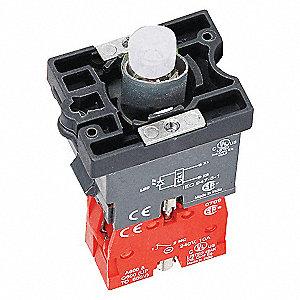 LED MODULE,24VAC/DC,22MM,1NC,RD,PLA