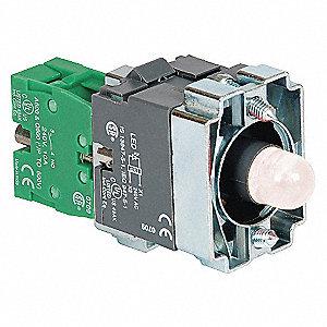 LED MODULE,24VAC/DC,22MM,1NO,WH,PLA