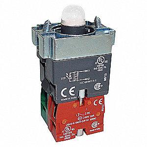 LED MODULE,24VAC/DC,22MM,1NO1NC,WH