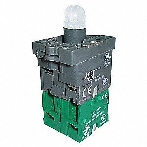 125VAC,22MM,2NO,GR,PLASTIC LED MODU