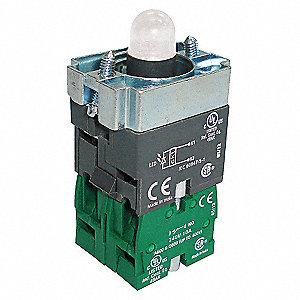 125VAC,22MM,2NO,WH,CR LED MODULE