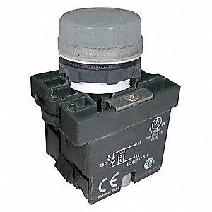 LED,22MM,125VAC,RD,PLASTIC PILOT LI