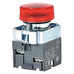 LED,22MM,125VAC,RD,CR PILOT LIGHT
