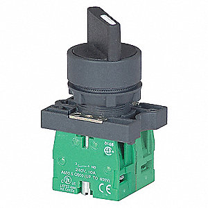 SELECTOR SWITCH,MOMENTARY,22MM,3POS