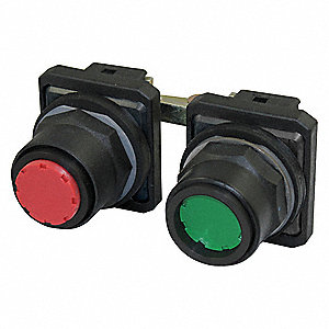2PUSHBUTTON,30MM,MAINTAINED,RD
