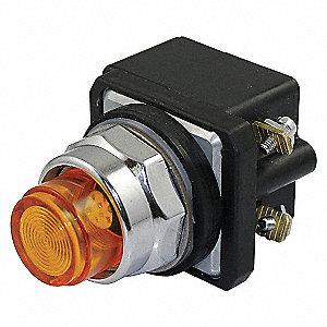 PILOT LIGHT,LED,24V,30MM,CHROME,AMB