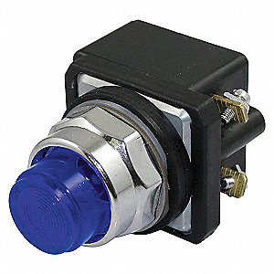 PILOTLIGHT,LED,120VAC/DC,30MM,CHROM