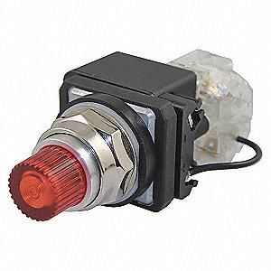 PILOTLIGHT,LED,24VAC/DC,30MM,CHROME