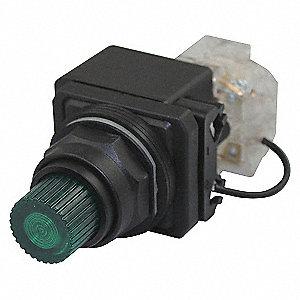 PILOTLIGHT,LED,24VAC/DC,30MM,PLASTI