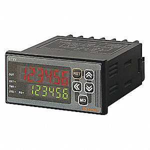 LED COUNTER/TIMER,DIGITAL6,ACPOWER,