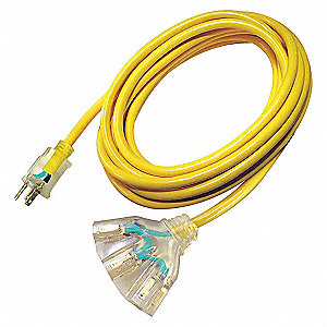 EXTENSION CORD,3-OUTLET,15A,10/3GA,
