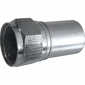 COAXIAL CONNECTOR,F-TYPE,RG6 PLENUM
