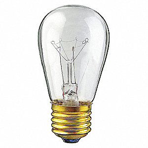 INCANDESCENT LIGHT BULB,S14,15W