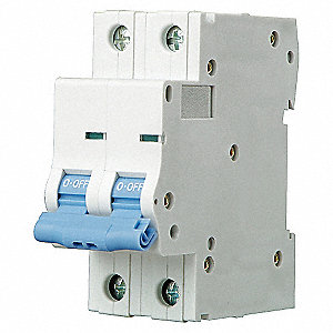 MINI CIRCUIT BREAKER,B CURVE,2P,1A,