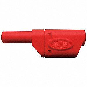 BANANA PLUG,1000VAC,RED